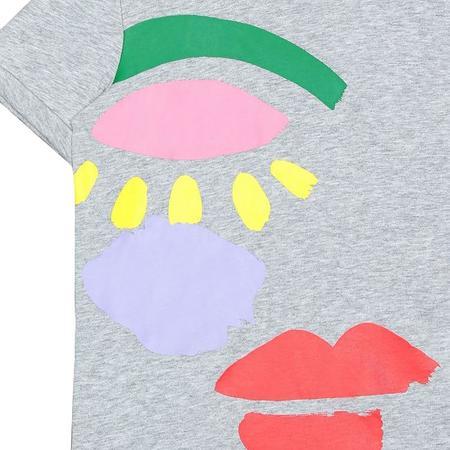 Kids Stella McCartney T-shirt - Grey/Graphic Face Print