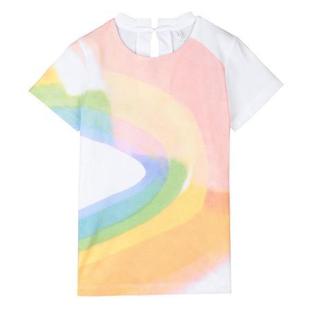 Kids Stella McCartney T-shirt - White/Painted Rainbow Print