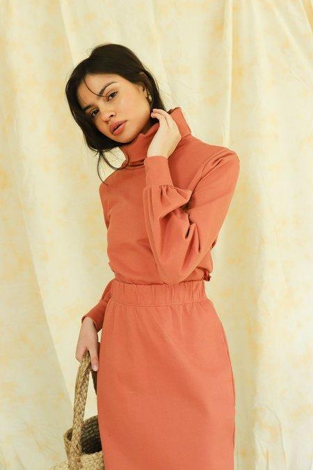 Glamorous High Neck Crop Sweater - Faded Rust