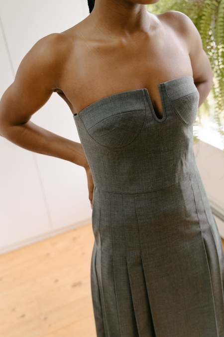Maryam Nassir Zadeh Hyacinth Dress - Graphite