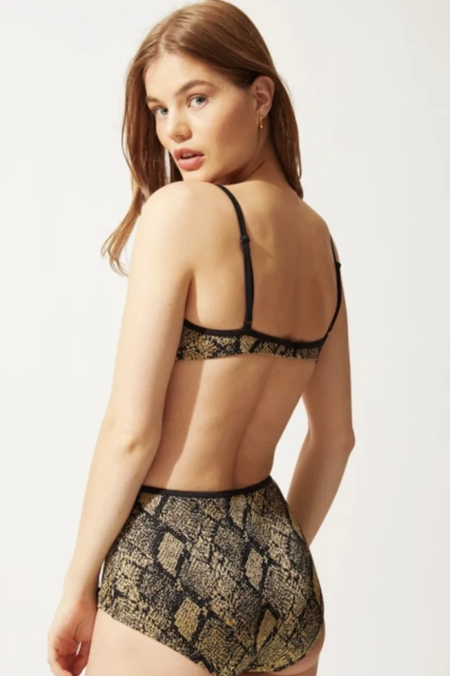 Solid and Striped The Brigitte Bottom - Snake Knit