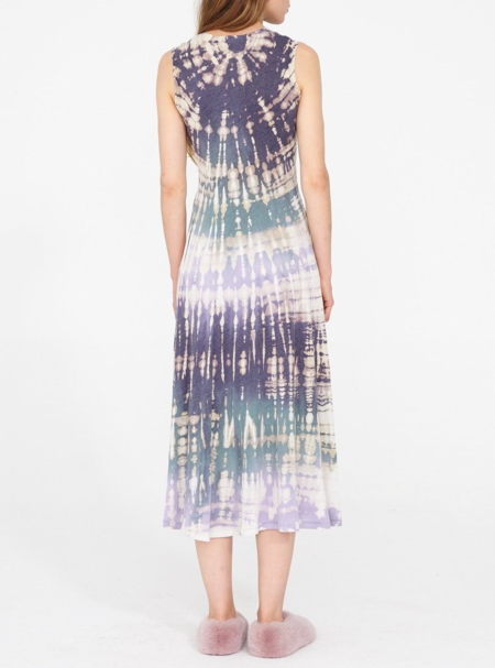 Raquel Allegra a line tie dye cotton jersey dress