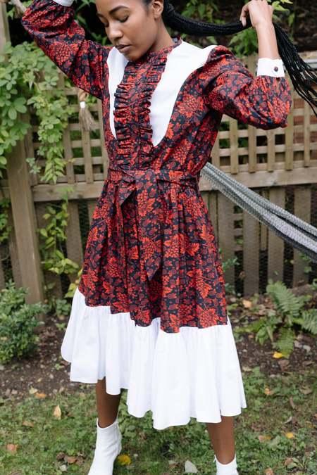 Batsheva Western Dress - Red