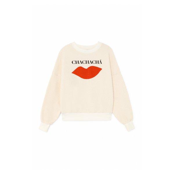 Bobo Choses Chachacha Kiss Sweatshirt - white