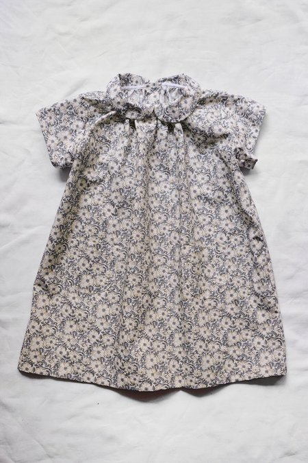 kids Makié Adel Dress - gray flower