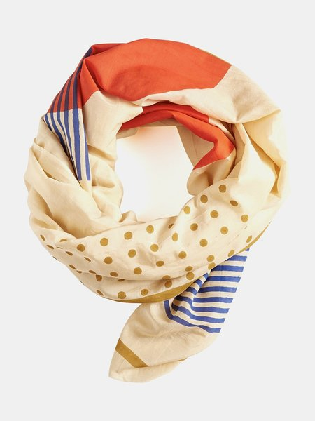 block shop metronome scarf - cream