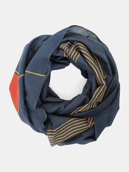 block shop sunset point scarf - navy