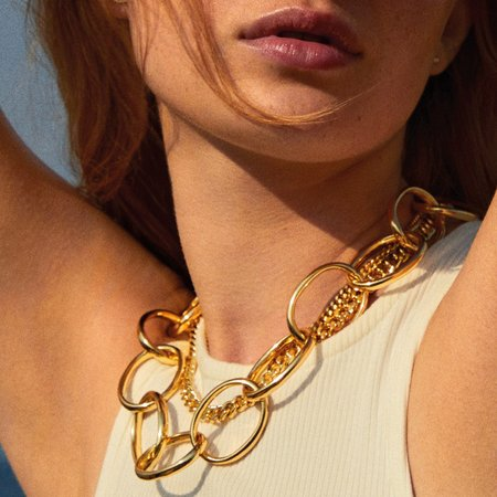 Pilgrim Air Necklace - Gold Plated