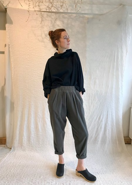 Black Crane Carpenter Pant  - Dk.Grey Green