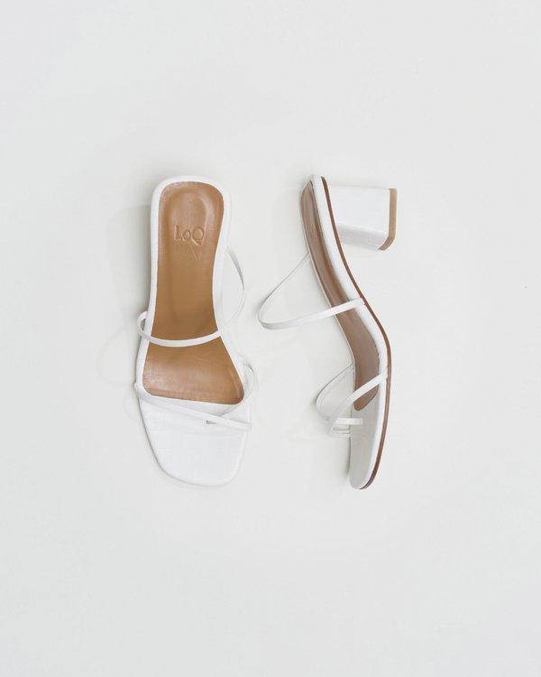 LOQ Manola sandal - Blanco Croc