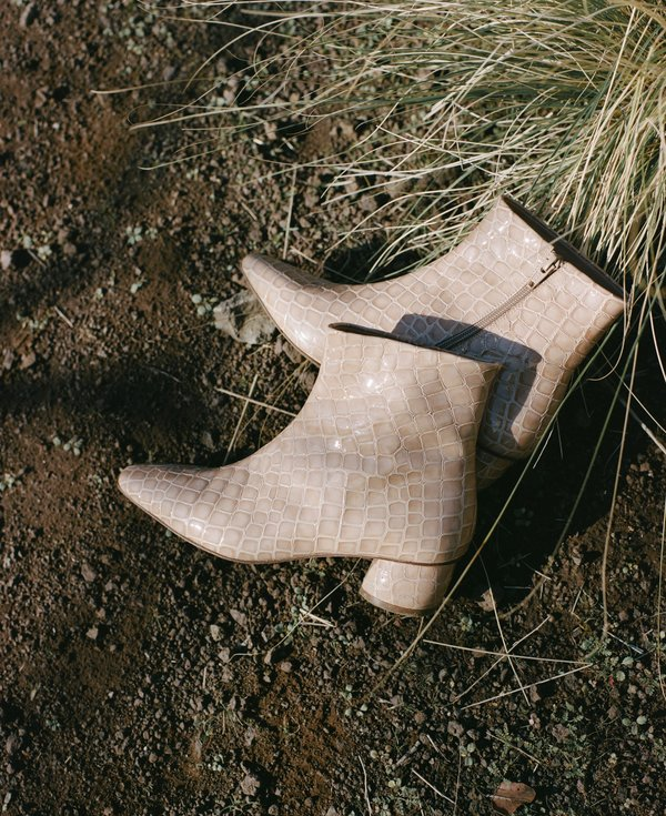 LOQ Matea ankle boot - Dune Patent Croc