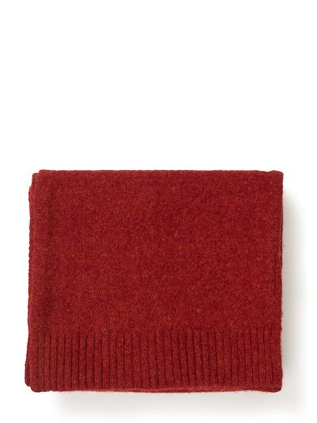 Norse Projects Brushed Wool Scarf - Cabin Red