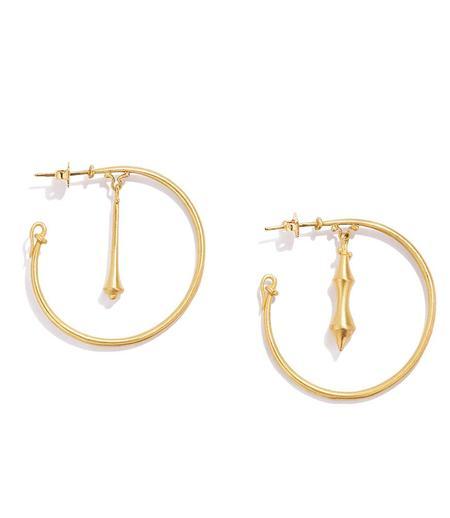 Renato Cipullo Large Pompeii Hoop Earrings - Yellow Gold