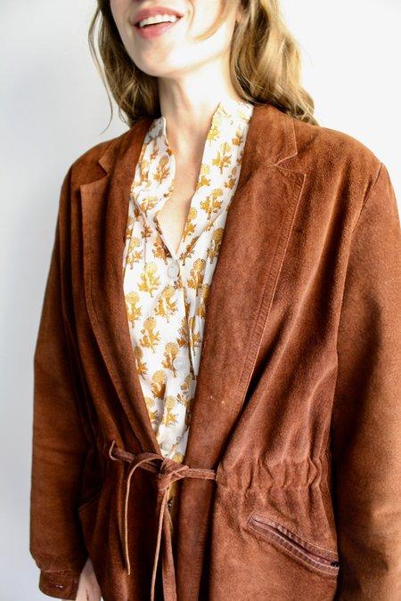 Vintage Royaldaim Suede Blazer - Chestnut