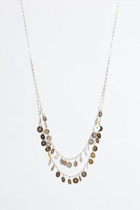 Gabriela de la Vega Antique Sequin Necklace - Brass/Gold