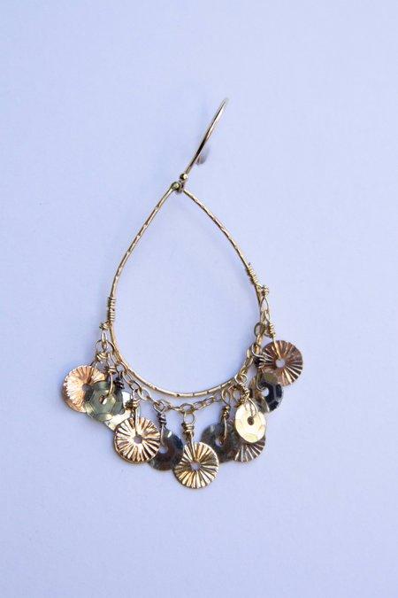 Gabriela de la Vega Teardrop Sequin Earring - Silver