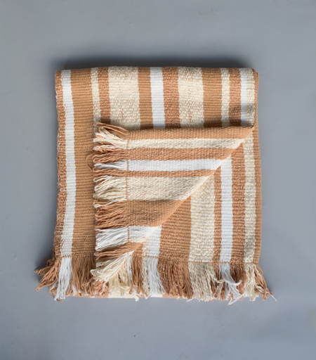VOZ Gradient Stripes Blanket - Apricot