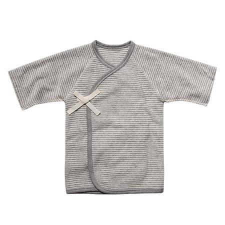 Kids Makié Baby Pile Kimono - Grey Stripes