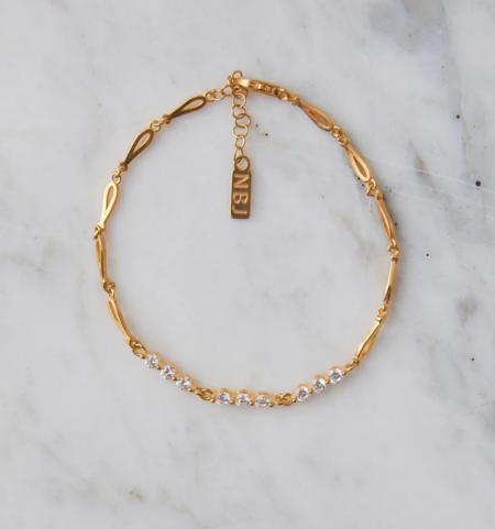 Natalie B. Jewelry Evie Bracelet - 14k Gold Plated