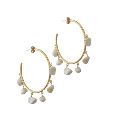 Natalie B. Jewelry Milky Way Hoop - 14k Gold Plated