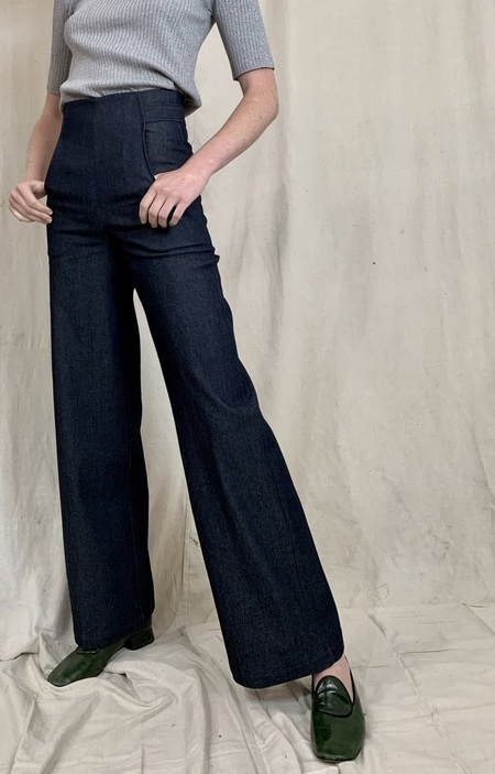 Anderst Milo Wide Leg Jeans - Navy