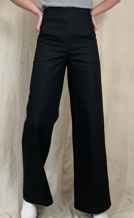 Anderst Milo Wide Leg Denim Pants - Black