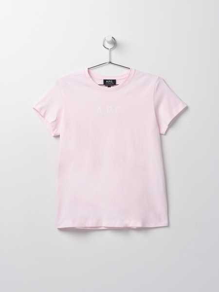 A.P.C. Stamp T-shirt - Fab Rose Pale