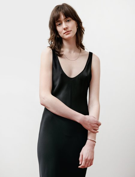 Araks Yulian Silk Slip Dress - Black