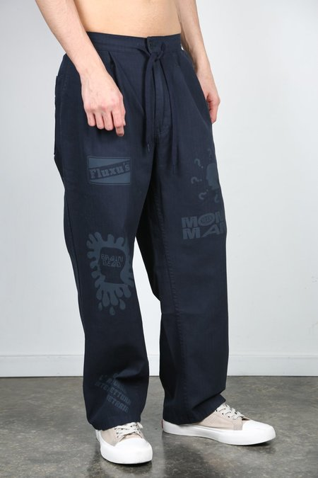 Brain Dead Printed Climbers Pant - Navy