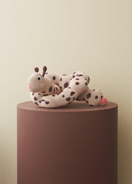 Kids OYOY Miss Lala Larva Stuffed Animal Toy - Off White/Caramel