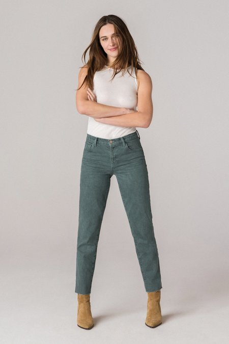 J Brand Adele Mid-Rise Straight Jeans - Dakota Distress