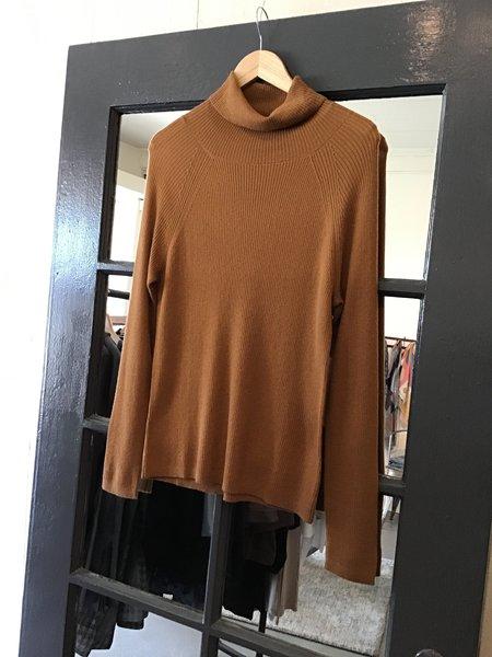 Brown Alan Turtleneck Sweater - Rust