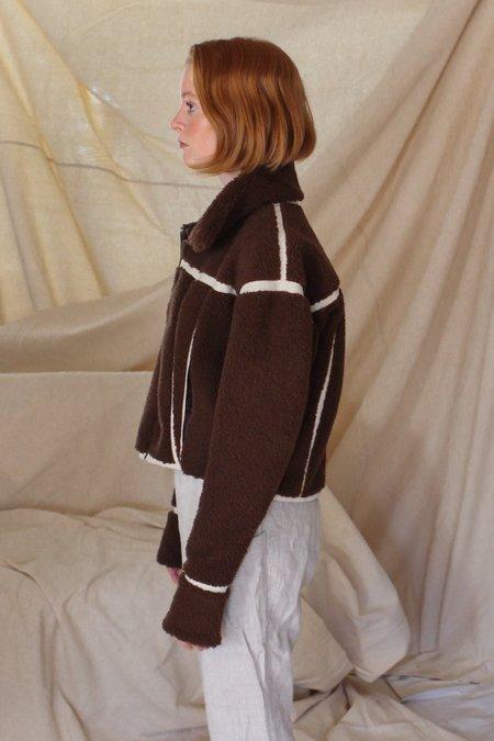 AndAgain Shearling Jacket - Brown