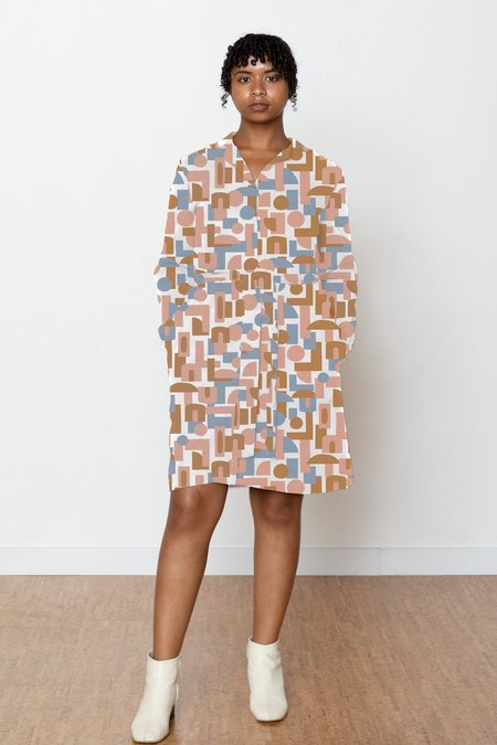 North Of West Decades Ruby Shirt Dress - Natural
