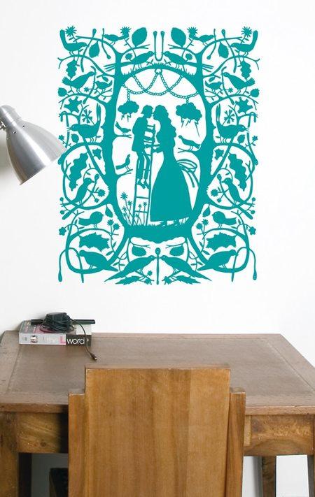 Domestic Wall Sticker Ladder Kiss design by Rob Ryan