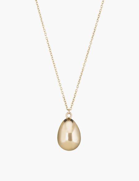 Kathryn Bentley 14K Gold Egg Pendant