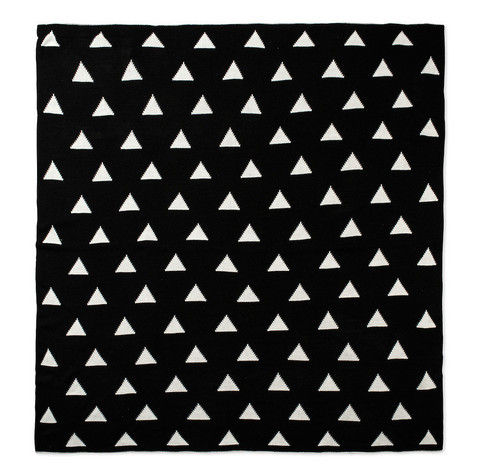 Modern Burlap Large Reversible Triangle Blanket