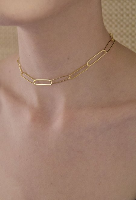SS JEWELRY Large Link Chain Choker - Gold
