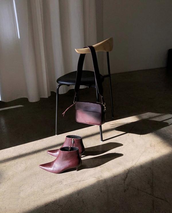Anine Bing Stella Boots - Burgundy