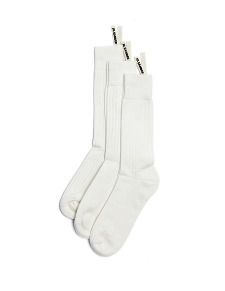 Jil Sander 3-Pack Socks - White