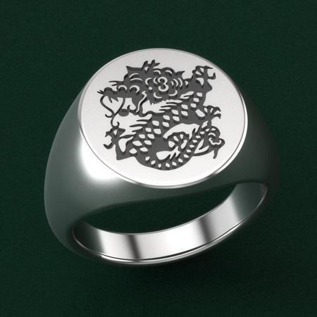 MÂCONNAIS Dragon Signet Ring