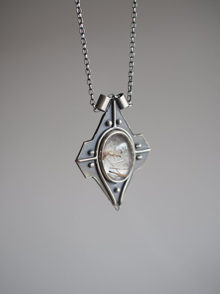 Acid Queen Jewelry Voyager Pendant Necklace with Rutilated Quartz