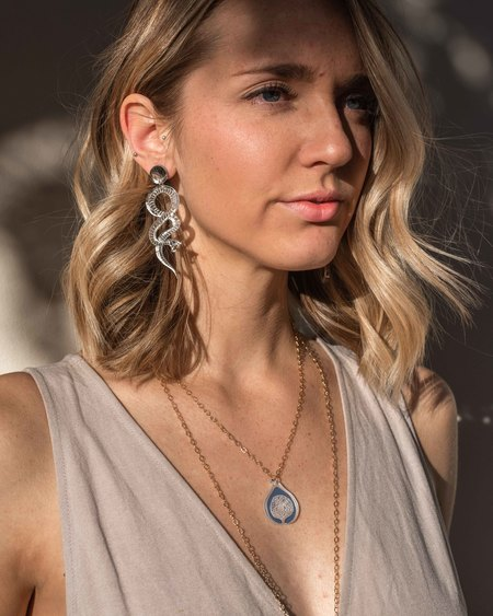 Fool's Gold Vuelta Necklace - Gold Lucite