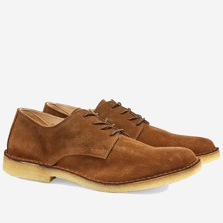 Astorflex Coastflex Suede Derby Shoe - Dark Khaki