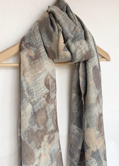 Dupatta Designs Abernathy Handwoven Scarf - Grey/Yellow