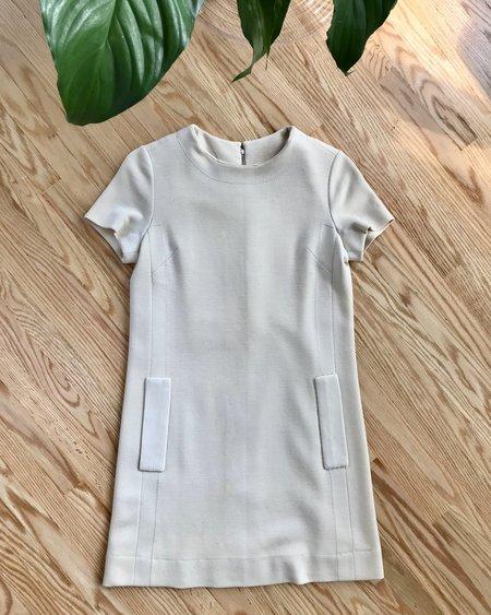 VINTAGE Haute Couture Christian Dior 1960's Shift Dress - Cream