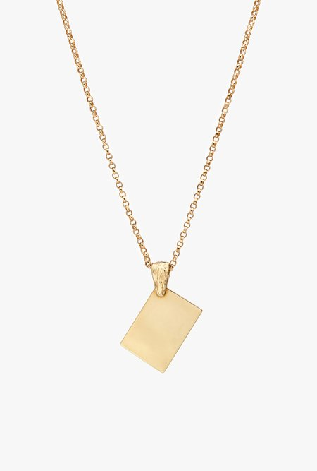 Fie Isolde Alfa Note Necklace Big with Chain