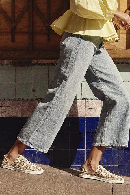 Freda Salvador Eda D'Orsay Sneaker - Vanilla Snake