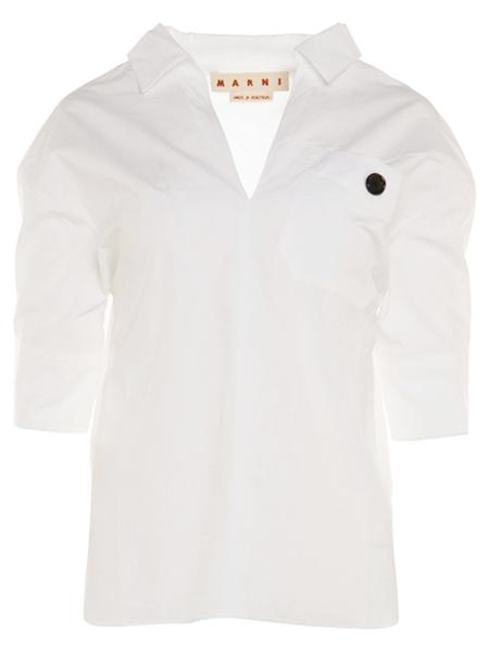 MARNI Lily Cotton Poplin Blouse - White