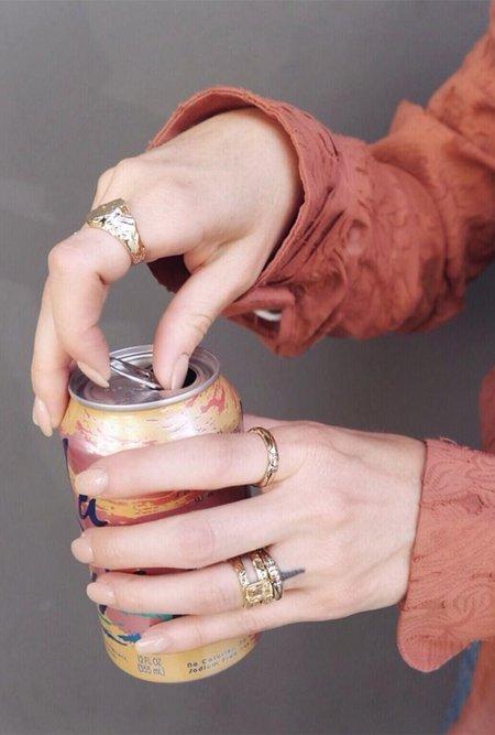 Fie Isolde Luna Ring with Rhodium